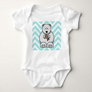 Cartoon Bear Baby Bodysuit