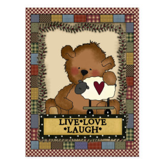 Cartoon Bear Inspirational Postcard