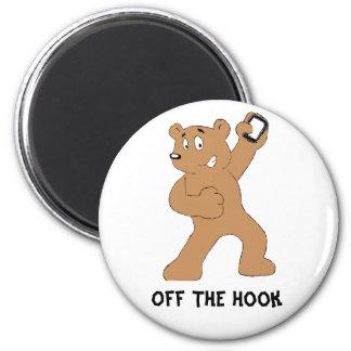Cartoon Bear With Cell Phone Fridge Magnet