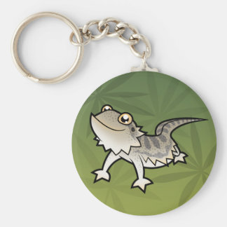 Cartoon Bearded Dragon / Rankin Dragon Keychain
