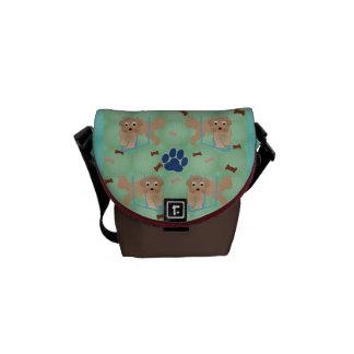 Cartoon Beardie Messenger Bags