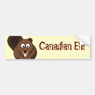 Cartoon Beaver Bumper Sticker