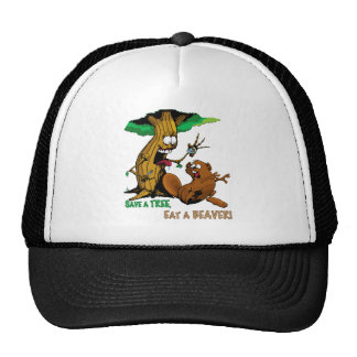 cartoon-beaver trucker hat
