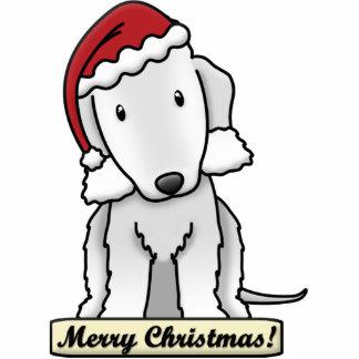 Cartoon Bedlington Terrier Christmas Ornament Photo Sculpture Ornament