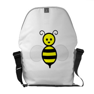 Cartoon Bee Courier Bags