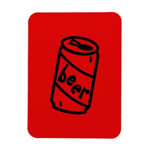Cartoon Beer Can - Any Team Colors Flexible Magnets