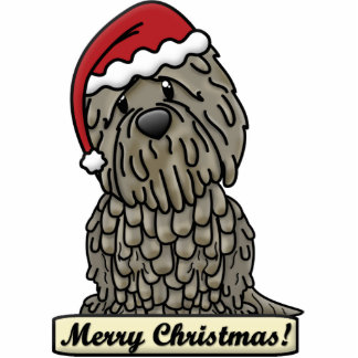Cartoon Bergamasco Christmas Ornament Photo Sculpture Ornament