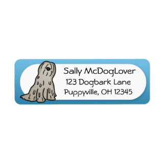 Cartoon Bergamasco Return Address Label