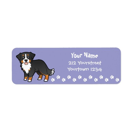 Cartoon Bernese Mountain Dog