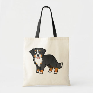 Cartoon Bernese Mountain Dog Tote Bag