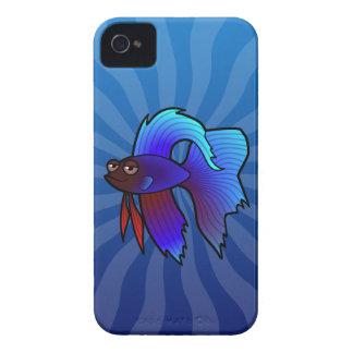 Cartoon Betta Fish / Siamese Fighting Fish Case-Mate iPhone 4 Case