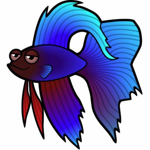 Cartoon betta fish siamese fighting fish zazzle for Cartoon fish pictures