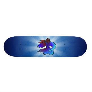 Cartoon Betta Fish / Siamese Fighting Fish Skate Board Deck