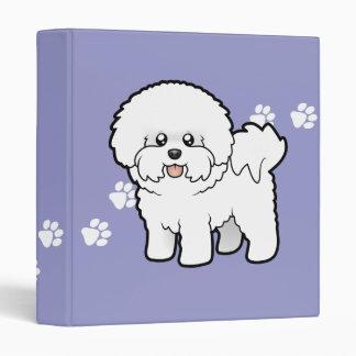 cartoon bichon frise binders - Frise Vinyle