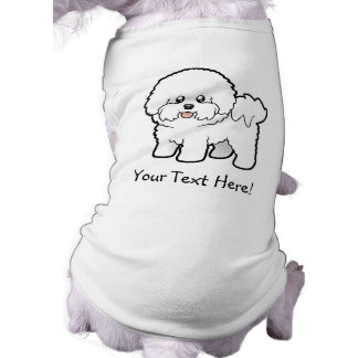 Cartoon Bichon Frise Dog T Shirt