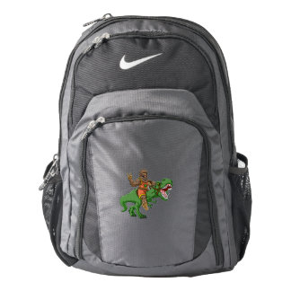 cartoon bigfoot-cartoon t rex-T rex bigfoot Backpack