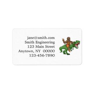 cartoon bigfoot-cartoon t rex-T rex bigfoot Label