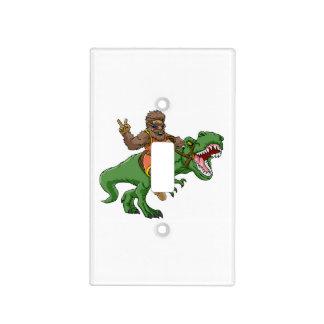 cartoon bigfoot-cartoon t rex-T rex bigfoot Light Switch Cover