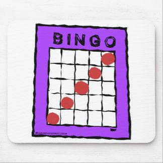 Cartoon Bingo Card design mouse pad