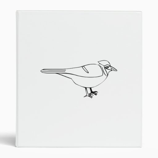 Cartoon Bird Binder