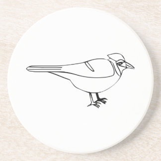 Cartoon Bird Beverage Coaster