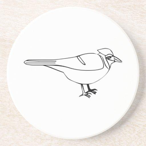 Cartoon Bird Beverage Coaster