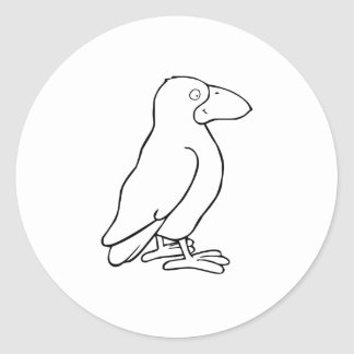 Cartoon Bird Round Stickers