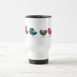 Cartoon Birds Colorful Bright Funny Cute Cheerful Travel Mug