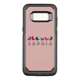 Cartoon Birds Cute Little Funny Sophia Colorful OtterBox Commuter Samsung Galaxy S8 Case
