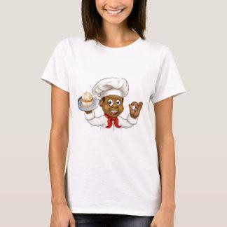 Cartoon Black Baker or Pastry Chef T-Shirt