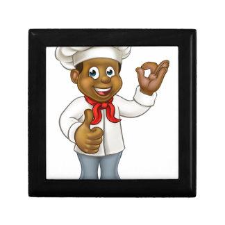 Cartoon Black Chef Cook Gift Box