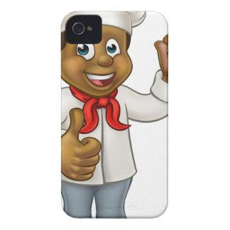 Cartoon Black Chef Cook iPhone 4 Case