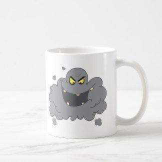 Cartoon Black Cloud Of Smog Coffee Mug
