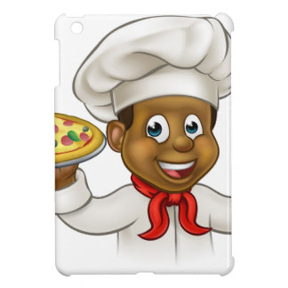 Cartoon Black Pizza Chef Cover For The iPad Mini