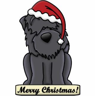 Cartoon Black Russian Terrier Christmas Ornament Photo Sculpture Ornament