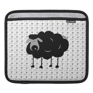Cartoon Black Sheep iPad Sleeve
