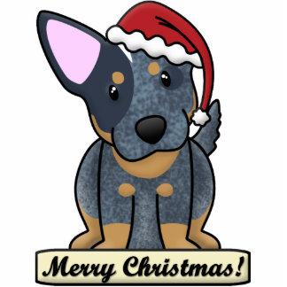 Cartoon Blue Heeler Christmas Ornament Photo Sculpture Ornament