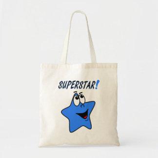 Cartoon Blue Star Tote Bag