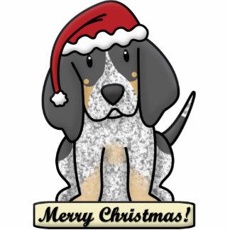 Cartoon Bluetick Coonhound Christmas Ornament Photo Sculpture Ornament