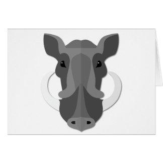 Cartoon Boar Head Card