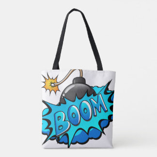 Cartoon Bomb Comic Style Tote Bag