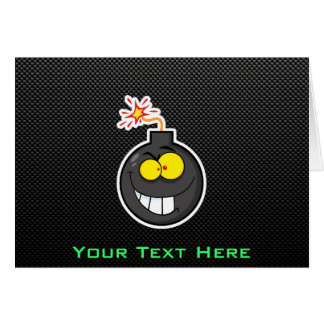 Cartoon Bomb; Sleek Greeting Card