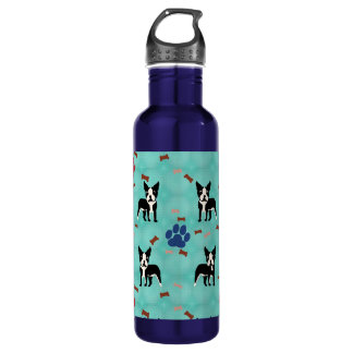 Cartoon Boston Terrier 710 Ml Water Bottle