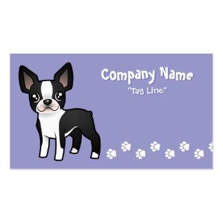 Cartoon Boston Terrier Business Cards