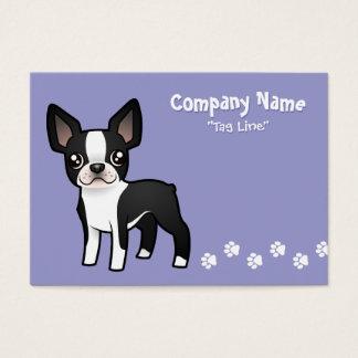 Cartoon Boston Terrier Business Card