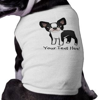 Cartoon Boston Terrier Dog T-shirt