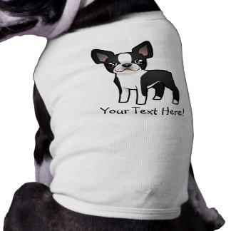 Cartoon Boston Terrier Doggie T-shirt