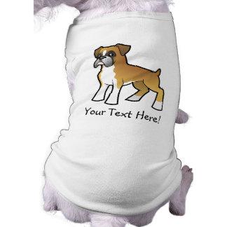 Cartoon Boxer Dog Tee Shirt