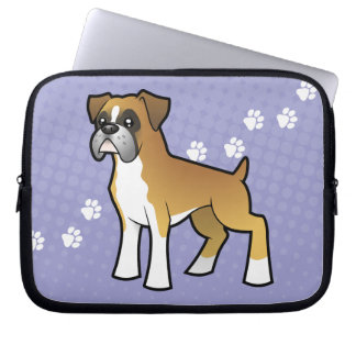Cartoon Boxer Laptop Computer Sleeve