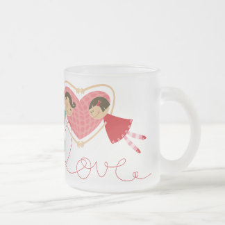 Cartoon Boy and Girl in Love Fun Valentine Day Mug